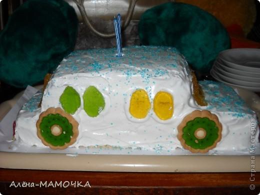 Этот торт я испекла для своего крестника. фото 1