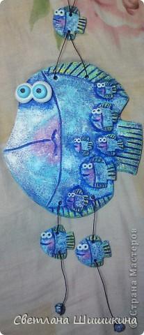 Всем очень нравится эта рыбка (изобретение Anaid)... На моём счету уже третья... В подарок... Попробовала в другом цвете сделать... фото 1