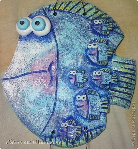 Всем очень нравится эта рыбка (изобретение Anaid)... На моём счету уже третья... В подарок... Попробовала в другом цвете сделать... фото 2