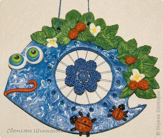 Идея не моя, позаимствована у мастерицы  Inna-mina , вот от сюда - http://stranamasterov.ru/node/82004. У меня эта рыбёха второя. фото 2