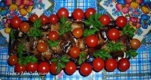 """Баклажанчики, баклажанчики - любят девочки, любят мальчики. С помидорками черри. Рецепт кулинарный """" ProstoDelkino.com - поделки"""