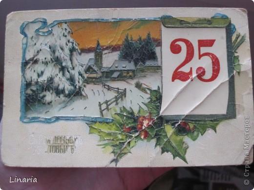 на днях разбирала новогодние открытки и решила поделиться с вами самыми старыми из моих запасов. Начну с двух старинных. Им почти 100 лет. Напечатаны в Германии (специально для России) в начале прошлого века. На почтовых штемпелях 1912 и 1913 г.г.Авторы рисунков не указаны. Эти открытки подарила моей бабушке ее подруга, когда им было по 10 лет, так что в нашей семье они храняться уже более 75-и лет. фото 1