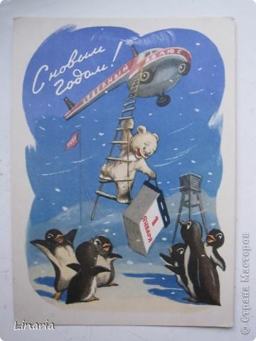 на днях разбирала новогодние открытки и решила поделиться с вами самыми старыми из моих запасов. Начну с двух старинных. Им почти 100 лет. Напечатаны в Германии (специально для России) в начале прошлого века. На почтовых штемпелях 1912 и 1913 г.г.Авторы рисунков не указаны. Эти открытки подарила моей бабушке ее подруга, когда им было по 10 лет, так что в нашей семье они храняться уже более 75-и лет. фото 9