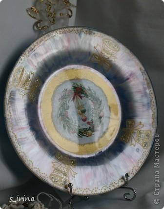 Новый год - тарелки фото 6
