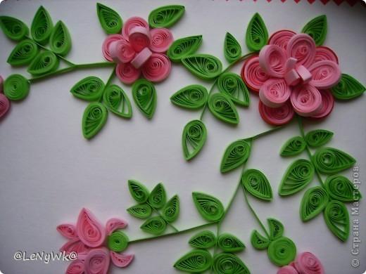 Спасибо Ольге Ольшак за идею- панно из роз. Надпись напечатана просто на принтере. фото 4