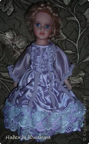 Платье для куклы из остатков.
