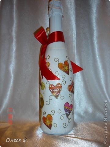 Наконец-то и я сделала бутылочки Новогодние. Пока две!!! фото 5