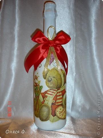 Наконец-то и я сделала бутылочки Новогодние. Пока две!!! фото 4