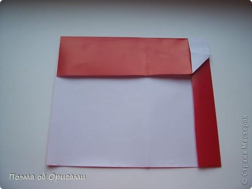 Автор выразительной модели Санты – Сано Сакаи из Японии. Я дополнила эту фигурку сложенной салфеткой и красным носом. В этом случае, персонаж стал чуть больше походить на нашего Деда Мороза. Для модели Деда Мороза и моделей оленей использованы  квадраты одинаковой величины. А вот для коробочек понадобятся квадраты ¼ от такого же размера. фото 7