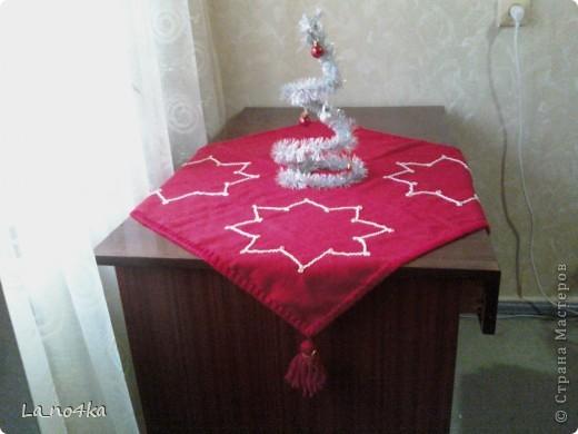 Праздничная салфетка на скорую руку фото 3