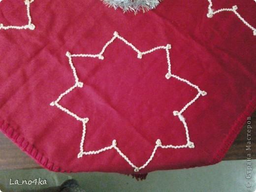 Праздничная салфетка на скорую руку фото 2