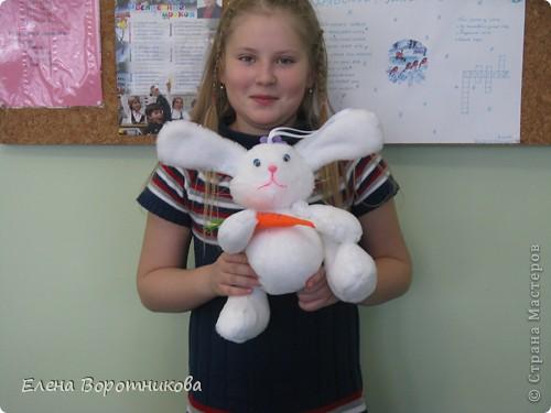 """Вот какого замечательного кролика сшила Пичуркина Олеся для конкурса """"Новогодняя игрушка"""" фото 1"""