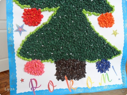 такие игрушки делали разноцветные и украшали всю группу.  фото 6
