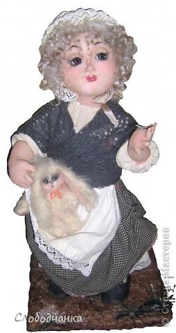 """Анаис  - """"милость, благодать"""".  Размер: 60 см, не грунтованный текстиль, авторская техника, подвижный каркас, ед.экз., антикварные и винтажные ткани и кружева. фото 1"""
