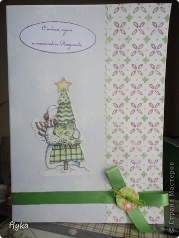 """Открытка """"Снеговик с ёлочкой"""" фото 1"""