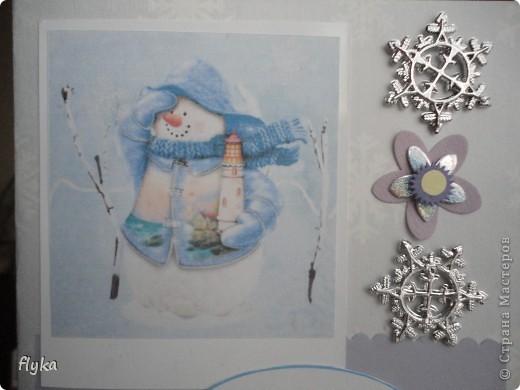 "Открытка ""Снеговик"" фото 3"