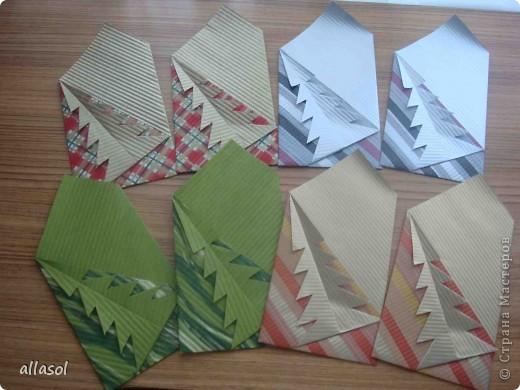 Очень понравились открытки (или конверты) с елочкой. Сделала образец. В понедельник будем делать с учениками. Хочу поделиться своей находкой с вами.  фото 1