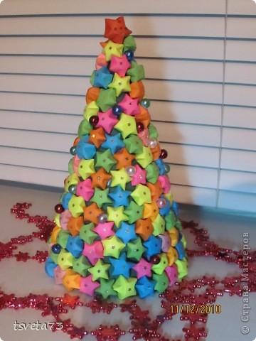 Вот такая елка получилась у меня к Новому году.... но пока она будет украшать мой компьютерный стол!!! Идею подсмотрела у Тимоти и Пустельги... Девочки спасибо вам огромное!!!!! фото 1