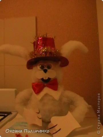 Новогодний заяц на ёлку.