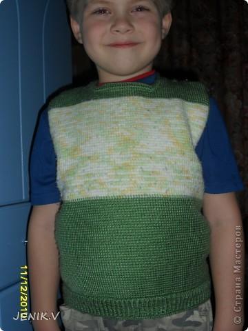 Моя первая работа Тунисской вязкой! Кто не знает, это вязание длинным крючком! фото 1