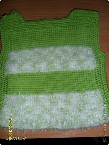 Моя первая работа Тунисской вязкой! Кто не знает, это вязание длинным крючком! фото 6