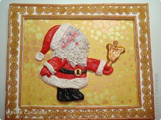 Вот, наконец-то, и высох мой дедушка Мороз!!!  http://stranamasterov.ru/node/118168 Раскрасила его гуашью. фото 1