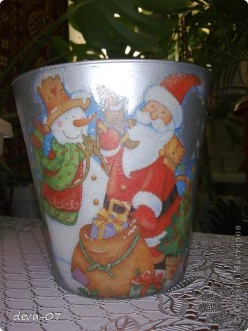 вазочка и бутылка  превратились в новогодние подарки...... фото 3