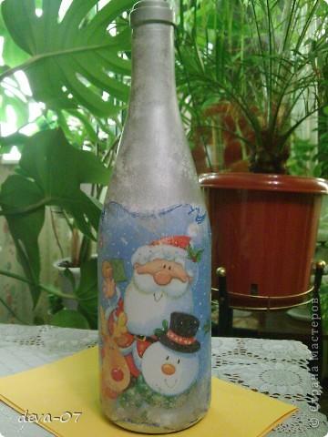 вазочка и бутылка  превратились в новогодние подарки...... фото 2