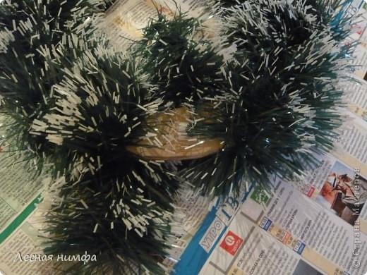 Вот такой Рождественский веночек у меня получился. фото 14