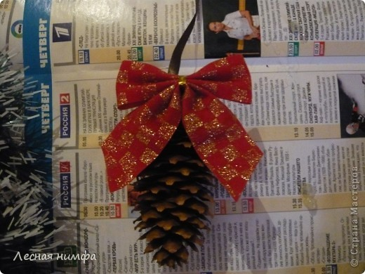 Вот такой Рождественский веночек у меня получился. фото 21
