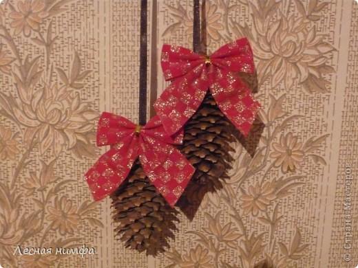Вот такой Рождественский веночек у меня получился. фото 6