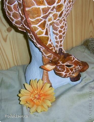Наконец-то закончила я свою вазочку с жирафочкой из солёного теста. Девочка вышла 38 см ростом, а весит 5,3 кг. Ваза не только для сухоцветов, в ней можно держать и живые цветы. Единственная деталь, служащая частичным каркасом - узкий высокий стеклянный стакан, внутри жирафочки. Вода благополучно вливается и выливается. Красила гушью и акварелью, частично покрывала лаком. Спасибо за просмотр!!! фото 6