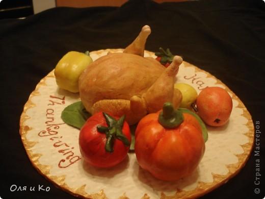 Эту тарелку мы с дочкой сделали за вечер,  утром быстренько подкрасили и в школу. фото 2