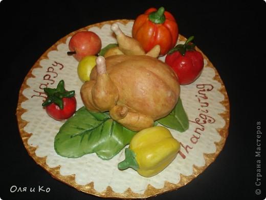 Эту тарелку мы с дочкой сделали за вечер,  утром быстренько подкрасили и в школу. фото 1