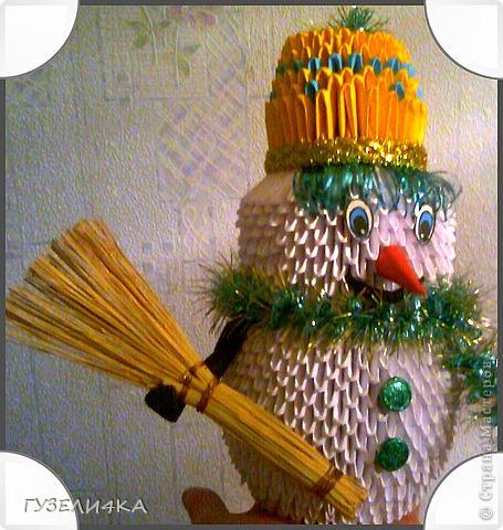 снеговик на конкурс в детский сад