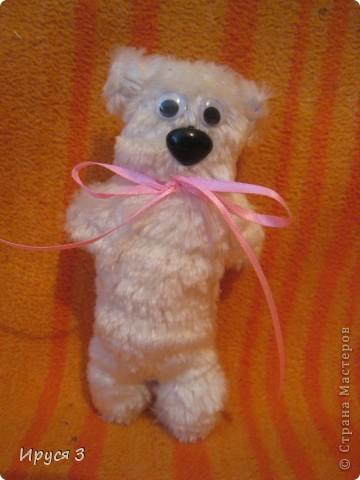 Мишка ( игрушку сшил мой 13-летний сын Максимка своему тренеру  в подарок на Новый год ) фото 1