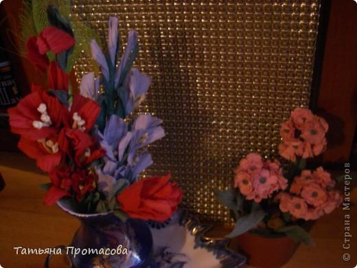 Гладиолусы и роза фото 3