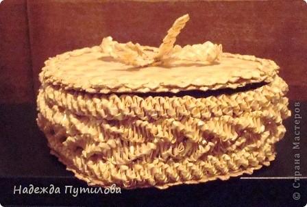 Мой первый опыт в плетении шкатулки из соломки.