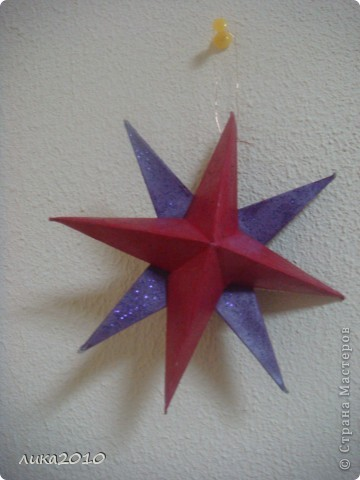 Вы уже были у меня в гостях осенью ( http://stranamasterov.ru/node/111827 ). Сменилось время года, сменился и  интерьер! Итак, зимнее праздничное настроение! Это приемная. Большая звезда покупная, маленькие самодельные. фото 2