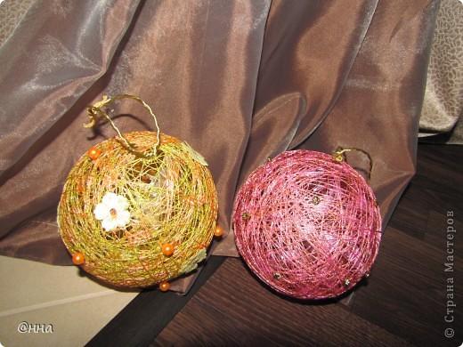 Новогодние елочные шарики фото 1