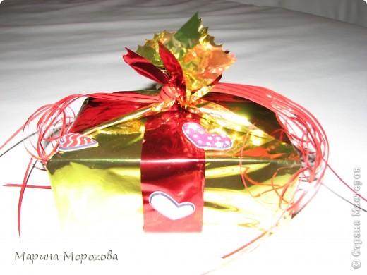 Вот такая упаковочка у подарка на День рождения получилась! фото 1