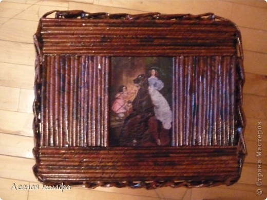 Первая плетёная шкатулочка из газет. фото 1