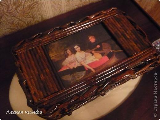 Вторая плетёная шкатулочка из газет. фото 5