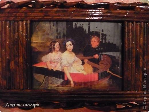 Вторая плетёная шкатулочка из газет. фото 3