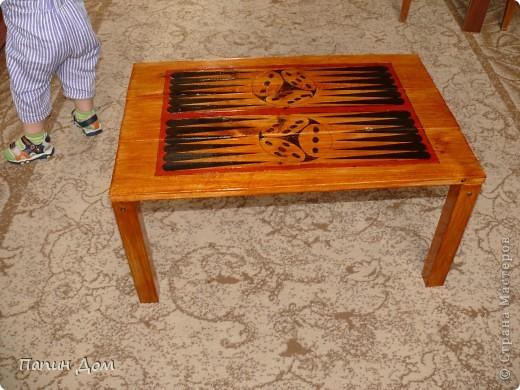 Столик для игры в нарды фото 1