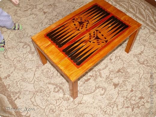 Столик для игры в нарды фото 3