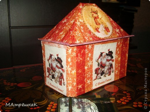 Увидела как то -Зимний домик для чайных пакетиков, и вдохновилась.И вот — что в итоге- на ваш суд фото 1