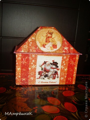 Увидела как то -Зимний домик для чайных пакетиков, и вдохновилась.И вот — что в итоге- на ваш суд фото 2