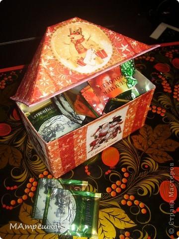 Увидела как то -Зимний домик для чайных пакетиков, и вдохновилась.И вот — что в итоге- на ваш суд фото 4