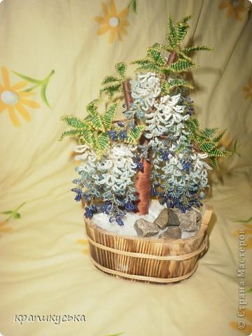 дерево из бисера глициния